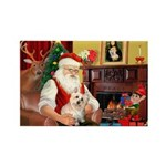 Santa's Cairn Terrier Rectangle Magnet