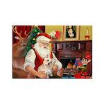 Santa's Cairn Terrier Rectangle Magnet