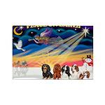 XmasSunrise/5 Cavaliers Rectangle Magnet (10 pack)