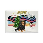 XmasMusic1MCL/Cavalier Rectangle Magnet (10 pack)