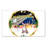 XmasSunrise/Chihuahua #1 Sticker (Rectangle 10 pk)
