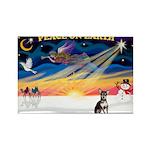 XmasSunrise/Chihuahua Rectangle Magnet (10 pack)