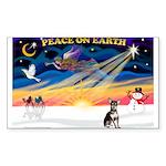 XmasSunrise/Chihuahua Sticker (Rectangle)
