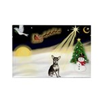 Night Flight/Chihuahua Rectangle Magnet (10 pack)