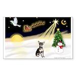 Night Flight/Chihuahua Sticker (Rectangle)