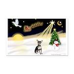 Night Flight/Chihuahua Rectangle Car Magnet