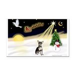 Night Flight/Chihuahua Rectangle Car Magnet