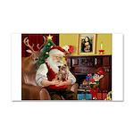 Santa's Chihuahua Car Magnet 20 x 12