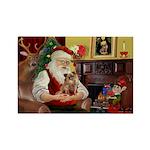 Santa's Chihuahua Rectangle Magnet (10 pack)