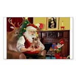 Santa's Chihuahua Sticker (Rectangle 50 pk)