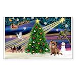 Xmas Magic & Chihuahua Sticker (Rectangle)