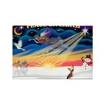 XmasSunrise/Chin Crested Rectangle Magnet (10 pack