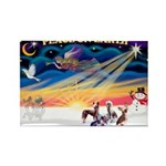 XmasSunrise/4 Cresteds Rectangle Magnet (10 pack)