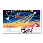 XmasSunrise/4 Cresteds Sticker (Rectangle 10 pk)
