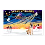 XmasSunrise/Shar Pei 5 Sticker (Rectangle 10 pk)