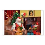 Santa's Shar Pei Sticker (Rectangle 50 pk)