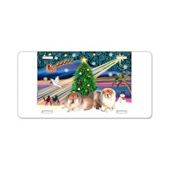 Xmas Magic & Chow Aluminum License Plate