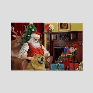 Santa's Chow Chow Rectangle Magnet