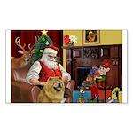 Santa's Chow Chow Sticker (Rectangle 50 pk)
