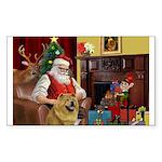 Santa's Chow Chow Sticker (Rectangle)
