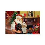 Santa's 2 Cockers Rectangle Magnet (10 pack)