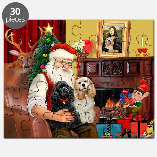 Santa's 2 Cockers Puzzle