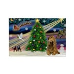 XmasMagic/Cocker (Brn) Rectangle Magnet (10 pack)