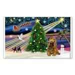 XmasMagic/Cocker (Brn) Sticker (Rectangle 10 pk)