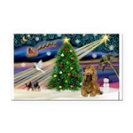XmasMagic/Cocker (Brn) Rectangle Car Magnet