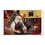 Santa's Black Cocker Sticker (Rectangle 10 pk)