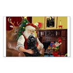 Santa's Black Cocker Sticker (Rectangle)