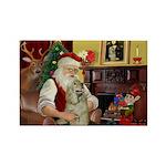 Santa's Buff Cocker Rectangle Magnet