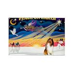 XmasSunrise/Collie #1 Rectangle Magnet (10 pack)