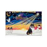 XmasSunrise/Collie #4 Rectangle Magnet (10 pack)