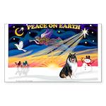 XmasSunrise/Collie #4 Sticker (Rectangle 50 pk)