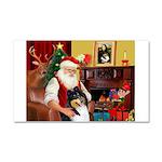 Santa's Collie (t) Car Magnet 20 x 12
