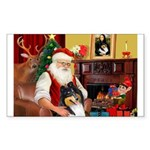Santa's Collie (t) Sticker (Rectangle)