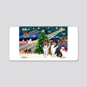 Xmas Magic & Collie Aluminum License Plate