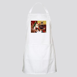 Santa's Collie pair Apron