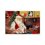 Santa's Coton Rectangle Magnet