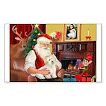 Santa's Coton Sticker (Rectangle 50 pk)