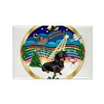 XmasMusic 3/Dachshund 17 Rectangle Magnet (10 pack