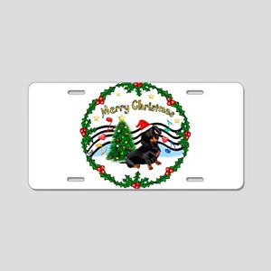 XmasMusic1/Dachshund #17 Aluminum License Plate