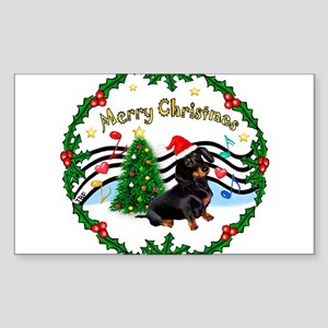XmasMusic1/Dachshund #17 Sticker (Rectangle)