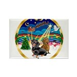 XmasMusic 3/2 Dachshunds Rectangle Magnet (10 pack