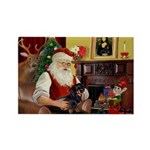 Santa's Dachshund (bt) Rectangle Magnet