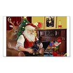 Santa's Dachshund (bt) Sticker (Rectangle 10 pk)