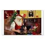 Santa's Dachshund (bt) Sticker (Rectangle)