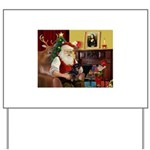 Santa's Dachshund (bt) Yard Sign