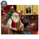 Santa's Dachshund (Br) Puzzle
